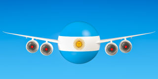 Argentine airlines and flying`s, flights to Argentina concept. 3 Stock Images