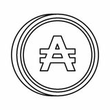 Argentine austral sign icon, outline style Stock Photo