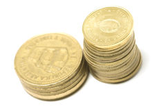 Argentine coins royalty free stock photos