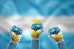 Argentine fans Stock Images