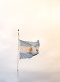 Argentine flag waving Stock Image