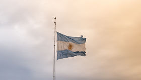 Argentine flag waving Royalty Free Stock Photo