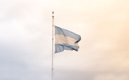 Argentine flag waving Royalty Free Stock Photos