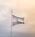 Argentine flag waving Royalty Free Stock Image