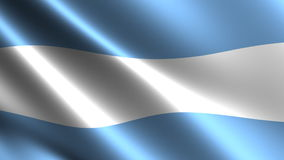 Argentine flag waving in the wind Stock Images