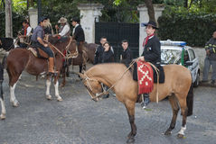 Argentine gauchos - 15 of May of 2012 Royalty Free Stock Image
