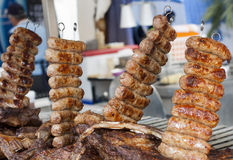 Argentine meal on grill Royalty Free Stock Photo