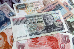 Argentine money Royalty Free Stock Photos