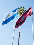 Argentine national flag and the flag of the province of Salta Stock Photos