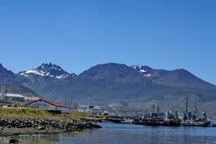 Argentine naval station in Ushuaia, Argentina Royalty Free Stock Images