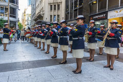 Argentine Navy musical band Royalty Free Stock Photography