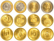 Argentine peso circulating coins collection Royalty Free Stock Photography