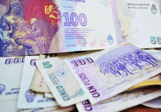 Argentine pesos Royalty Free Stock Photos