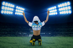Argentine player celebrate winning 1 Royalty Free Stock Photography