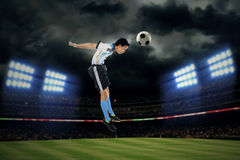 Argentine player heading ball Stock Photos