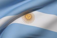 Argentine Republic flag waving Royalty Free Stock Photography