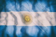 Argentine Republic flag waving Royalty Free Stock Photo