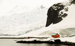Argentine Research Station - Antarctic. The Argentine Research Station - Antarctic royalty free stock photography