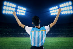 Argentine soccer player celebrate winning 1 Royalty Free Stock Photography