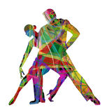 Argentine Tango. Couple abstract silhouette dancing Argentine Tango Royalty Free Stock Photography