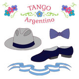 Argentine tango dancing shoes poster Stock Photo