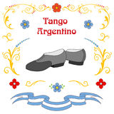 Argentine tango dancing shoes poster Royalty Free Stock Photography