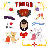 Argentine tango design elements Stock Image