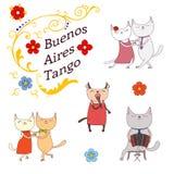 Argentine tango design elements Stock Photo