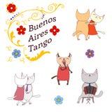 Argentine tango design elements Stock Images