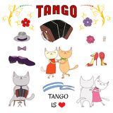 Argentine tango design elements Royalty Free Stock Photos