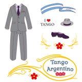 Argentine tango design elements Stock Photos
