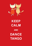 Argentine tango funny cats poster Royalty Free Stock Photo