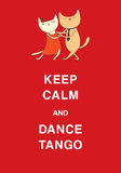 Argentine tango funny cats poster Stock Photos