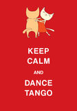 Argentine tango funny cats poster Stock Photo