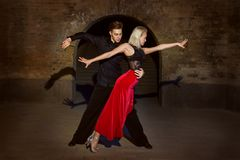 Argentine Tango in two. Royalty Free Stock Photo