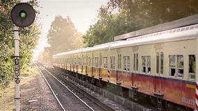 Argentine Trains In The Old Station. Arriving and Leaving stock footage