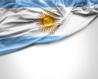Argentine waving flag on white background Stock Images
