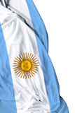 Argentine waving flag on white background Royalty Free Stock Image
