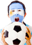 Argentinean celebrating a goal Stock Photo