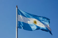 Argentinean flag Stock Photos