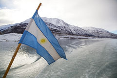 Argentinean Flag in Patagonia Stock Photos