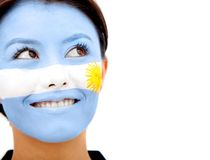 Argentinean flag portrait Royalty Free Stock Photography