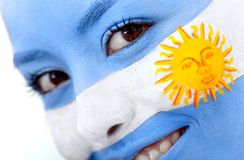 Argentinean flag portrait Royalty Free Stock Photo