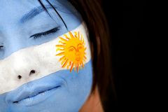 Argentinean flag portrait Royalty Free Stock Images