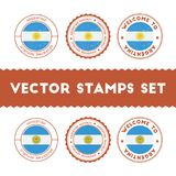 Argentinean flag rubber stamps set. Royalty Free Stock Photos