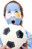Argentinean football fan Royalty Free Stock Photos