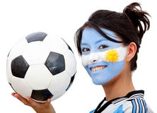 Argentinean football fan Royalty Free Stock Photo