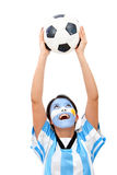 Argentinean football fan Royalty Free Stock Images