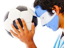 Argentinean football fan Royalty Free Stock Photography