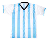 Argentinean football shirt Royalty Free Stock Photo